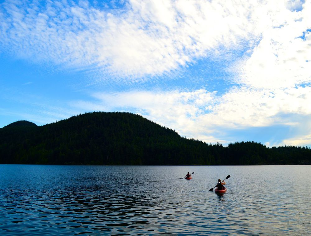 Kayaking on Cascade Lake in Moran State Park on Orcas Island