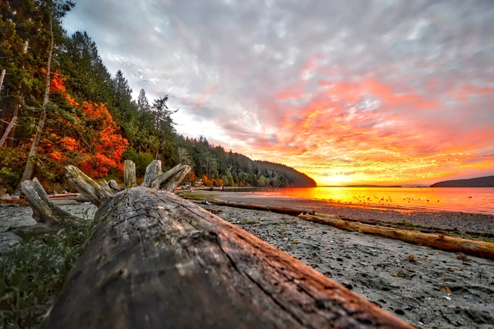 West Beach at Sunset on Orcas Island