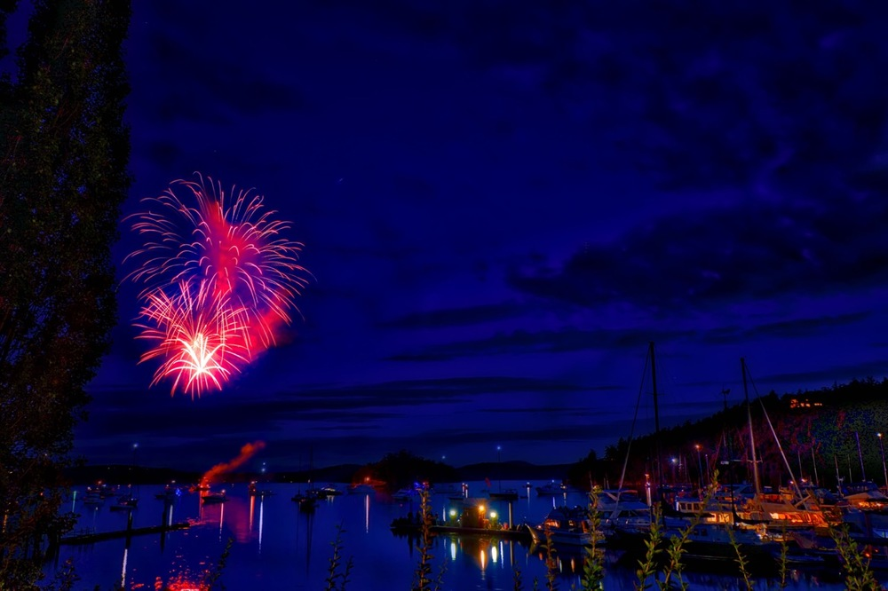 Deer Harbor, Orcas Island - Fireworks Display on July 3, 2016