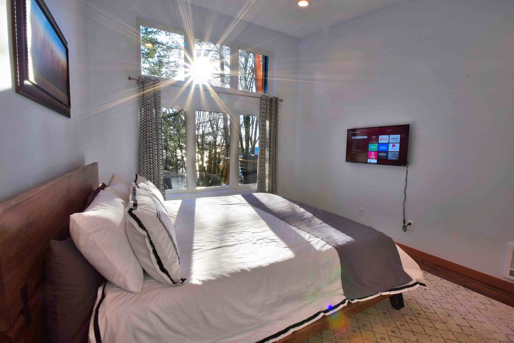 Master Bedroom with lots of natural light.