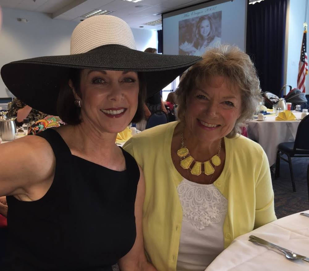"What a great surprise to have a catch-up chat with Lynn Grenz Snodgrass (1971) who handed off the Miss ""O"" crown to me the following year (1972)."