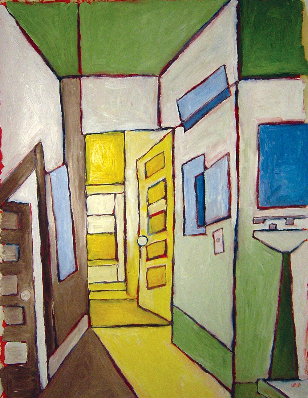 Hallway on Farwell<br> <br>oil on paper
