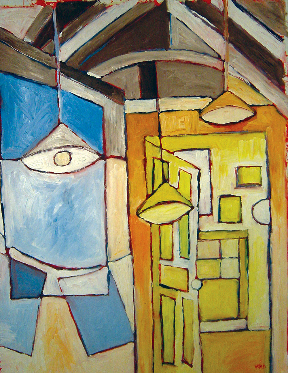 Attic on Farwell<br> <br>oil on paper