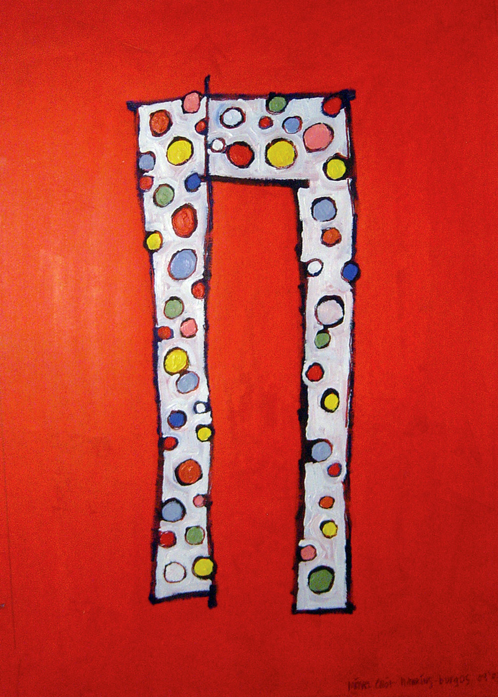 Copy of Happy Pants<br> <br>oil on paper<br>SOLD