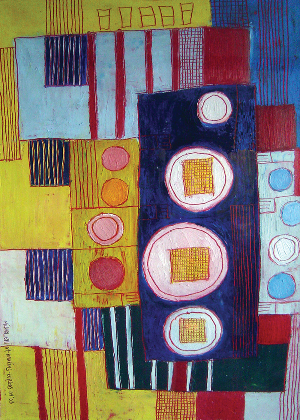 Copy of Breakfast Table<br> <br>oil on paper<br>SOLD