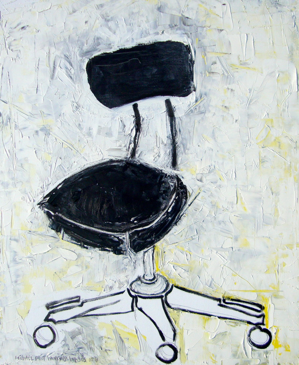 Black Office Chair<br> <br>oil on canvas