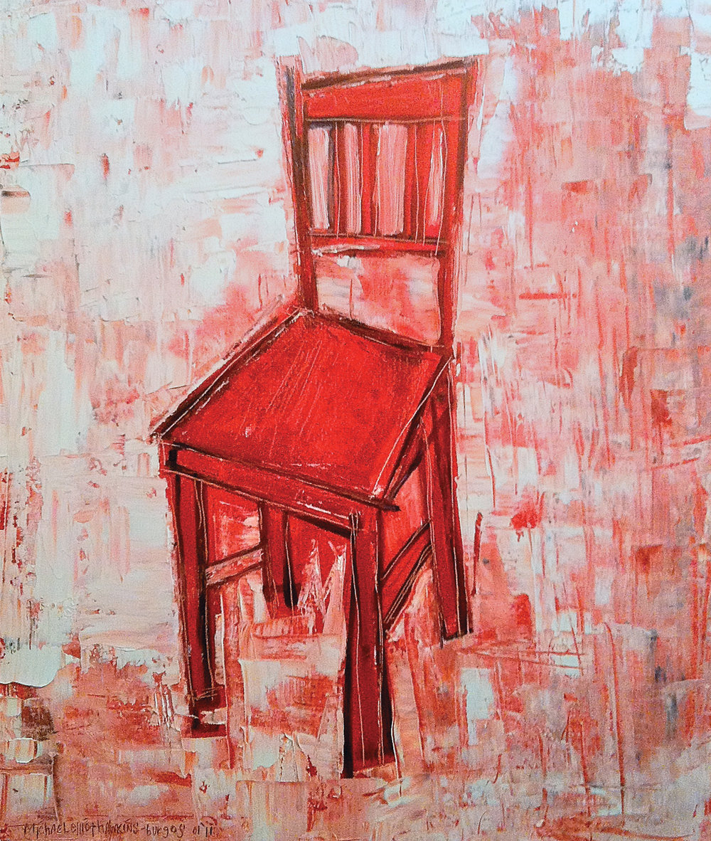 Red Chair<br> <br>oil on canvas