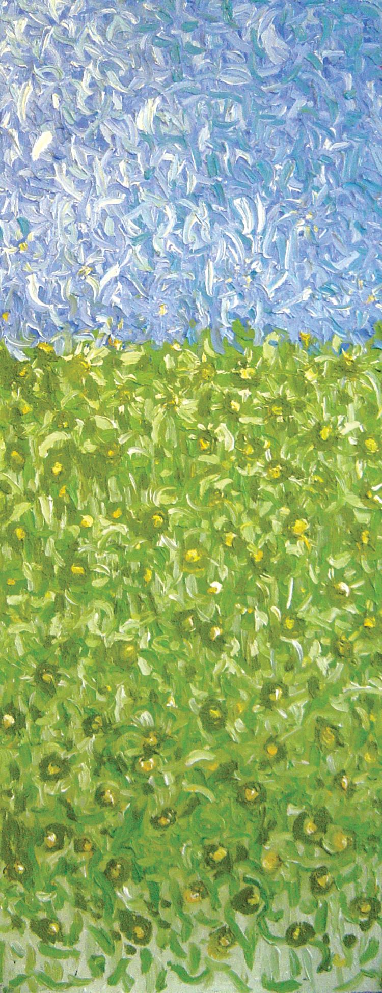 Copy of Field<br> <br>oil on paper<br>SOLD