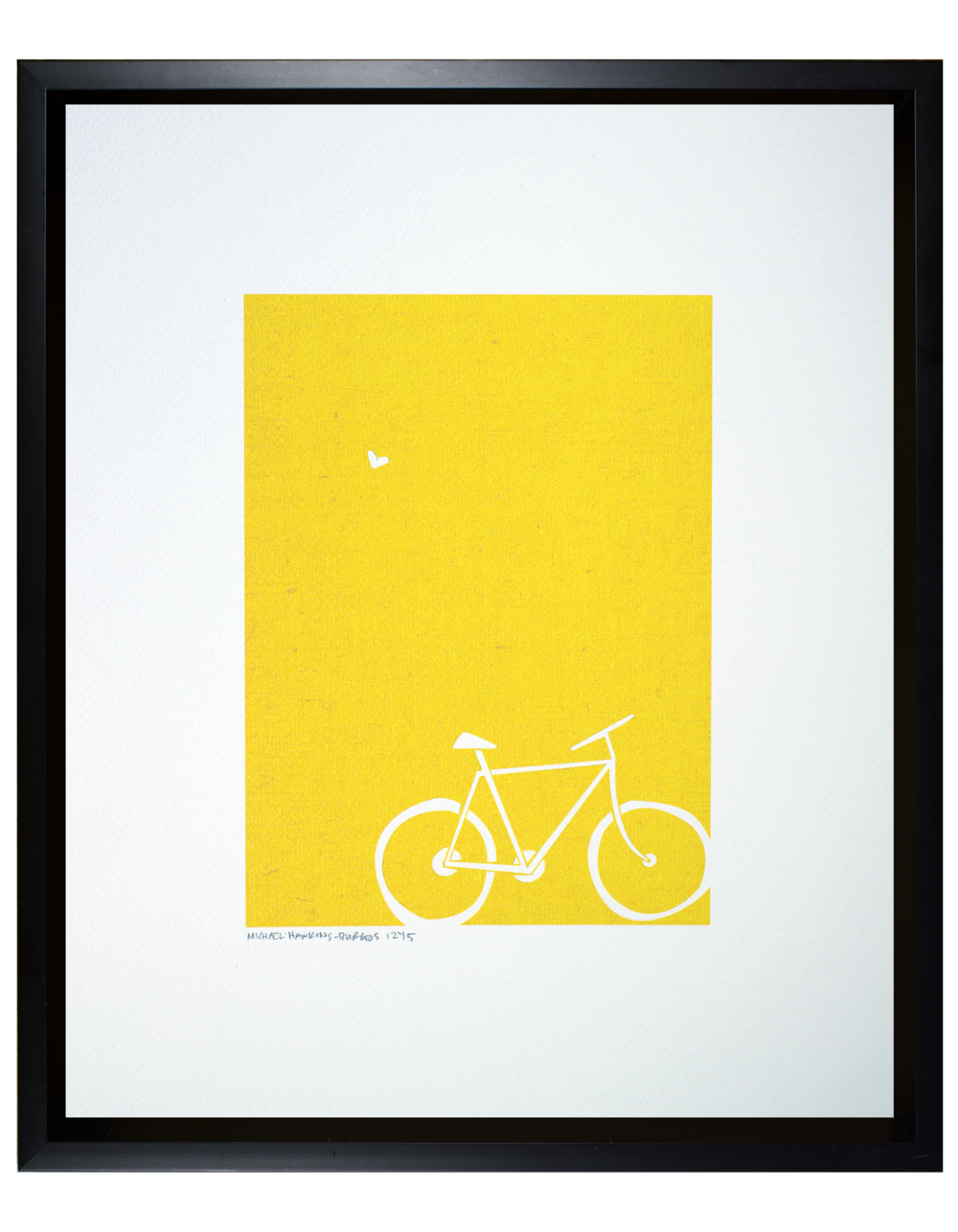 Love and a Bike<br> <br>11x14""