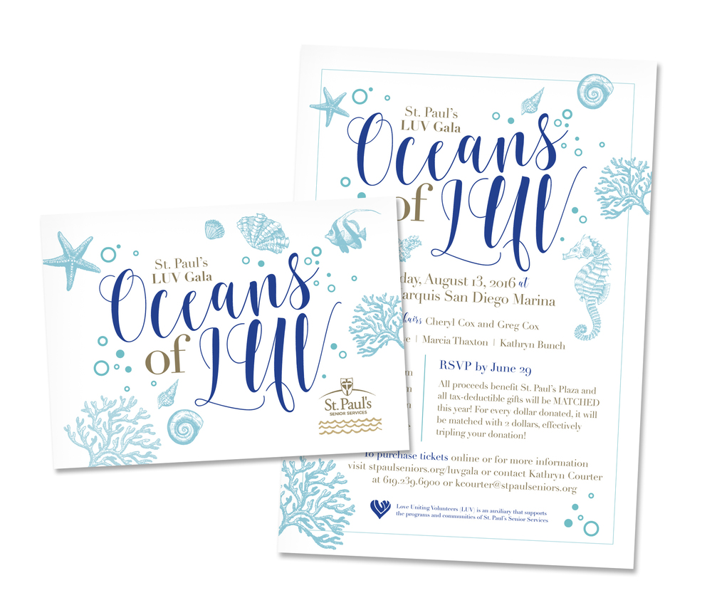 Under the Sea Invitations Alyssa McNees Graphic Design