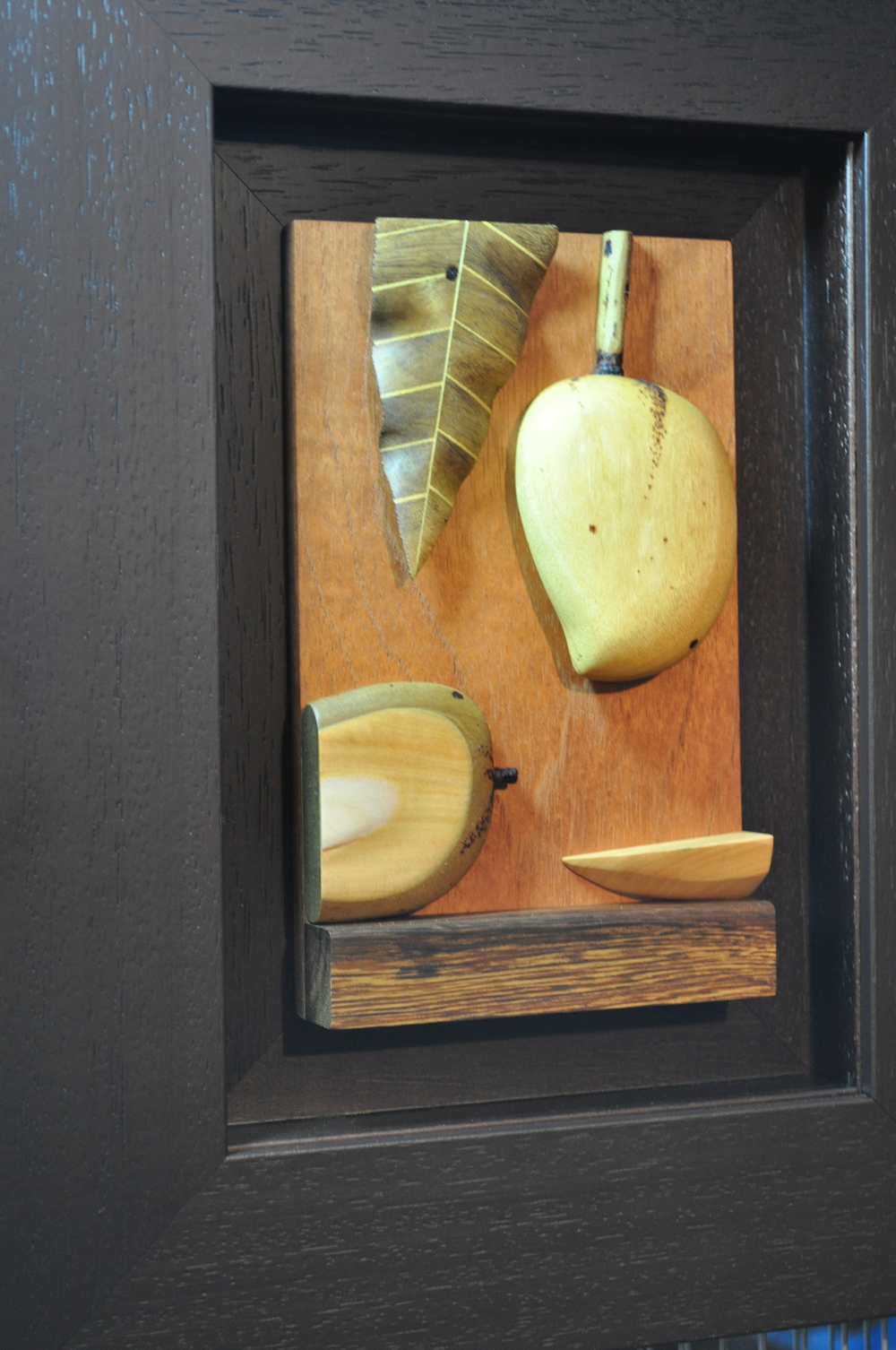 Theintarsiatechnique consists of using wood in its natural color. Photo: Pamy Rojas