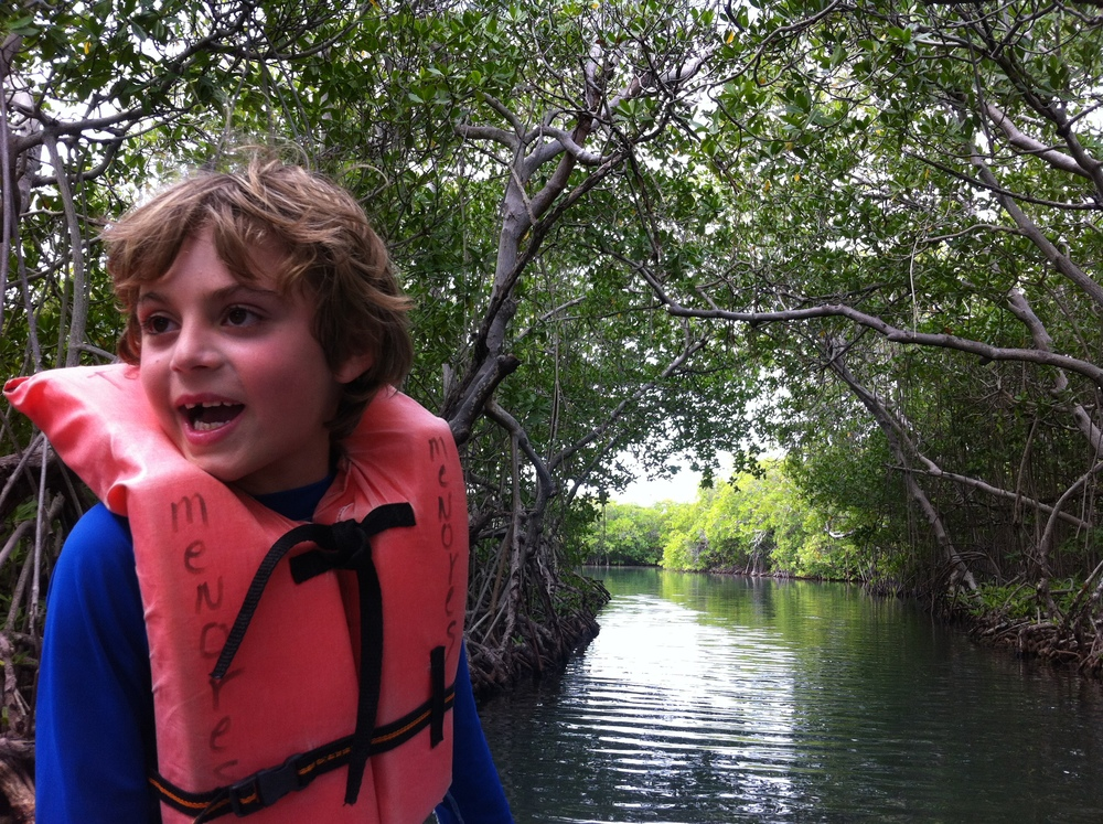 It is safe to navigate the mangroves, but children must wear a life vest, regardless of them knowing how to swim. Photo: Pamy Rojas
