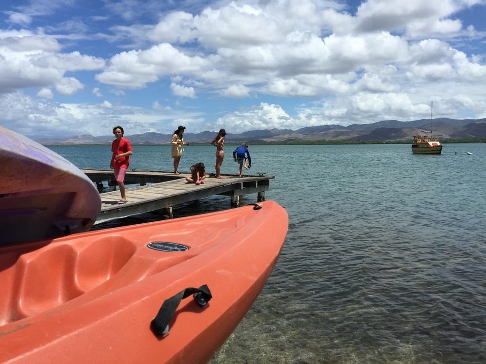 Ese mismo día también fuimos a la La Bahia de Jobos, fuente de inspiración para el cuento Celita y el Mangle Zapatero. Foto: Bruny Nieves