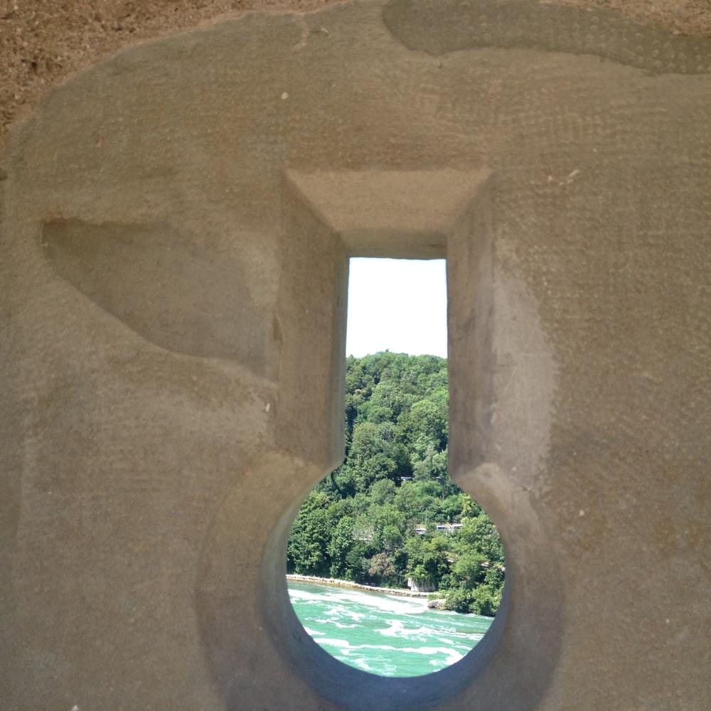 Vista desde la muralla del Castillo Laufen. Foto: Tamara Carra