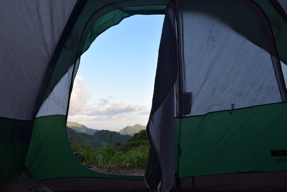 We shared our camping tent with other voluntaries. Photo: Alejandro Rodz. Rojas