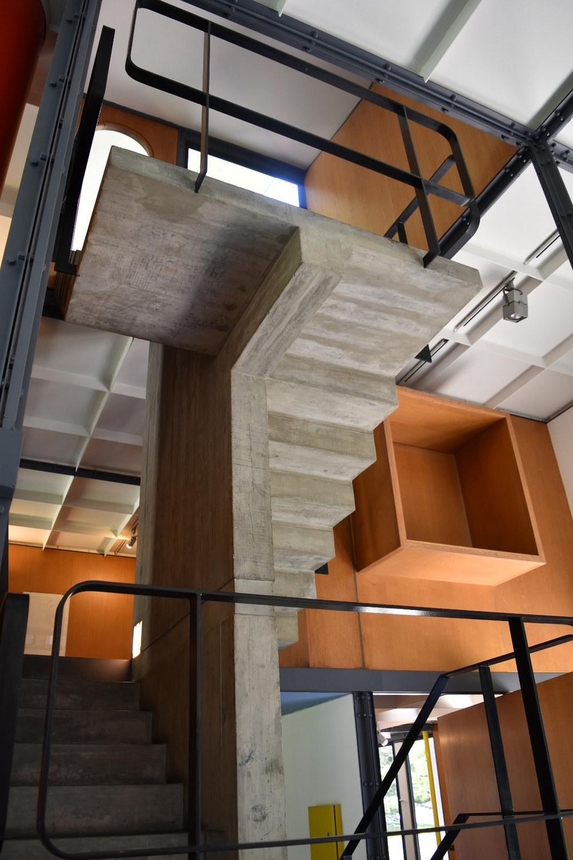 Vista interior de la última estructura diseñada por el afamado arquitecto suizo Charles-Edouard Jeanneret-Gris, mejor conocido como Le Corbusier. Foto: Bernardo Fiol