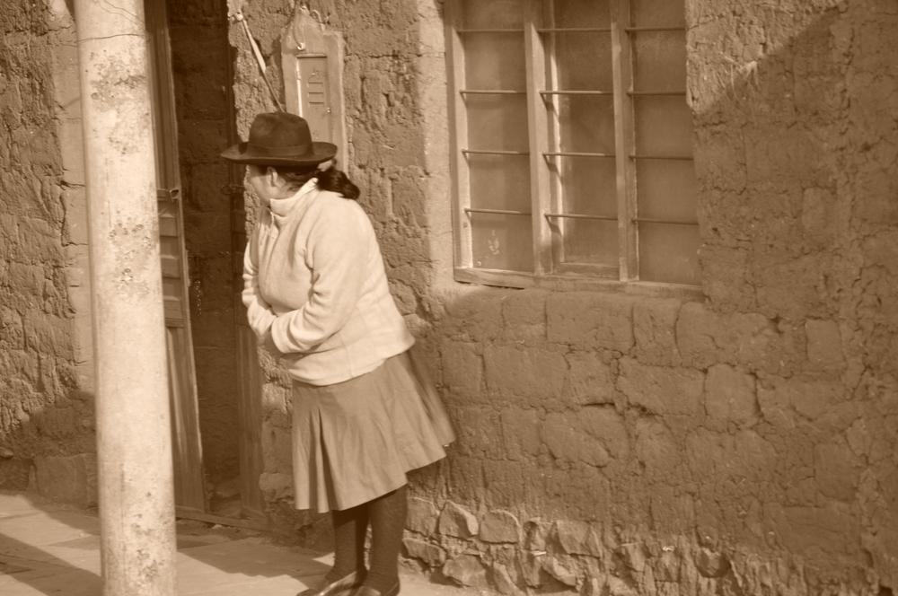 Ella a la espera. Foto: Pamy Rojas
