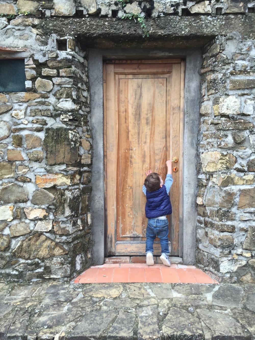 Our Poggio al Sole holiday apartment's front door. Photo: Ray Cuevas