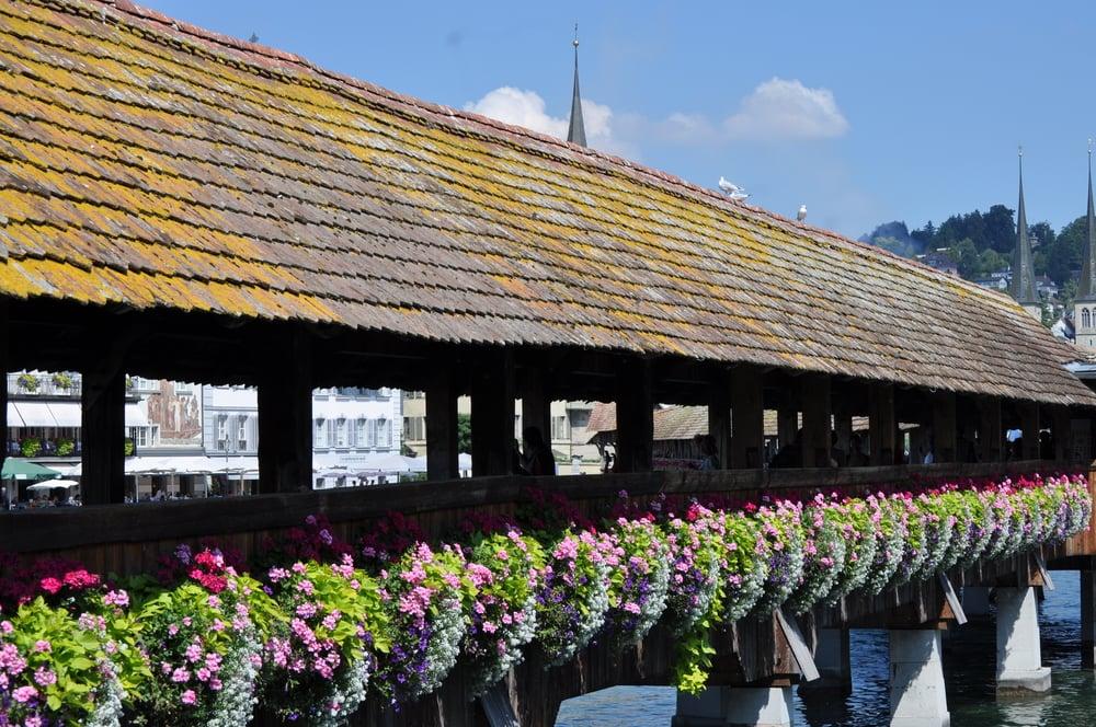 The Chapel Bridge is the world's oldest surviving truss bridge. Photo: Pamy Rojas