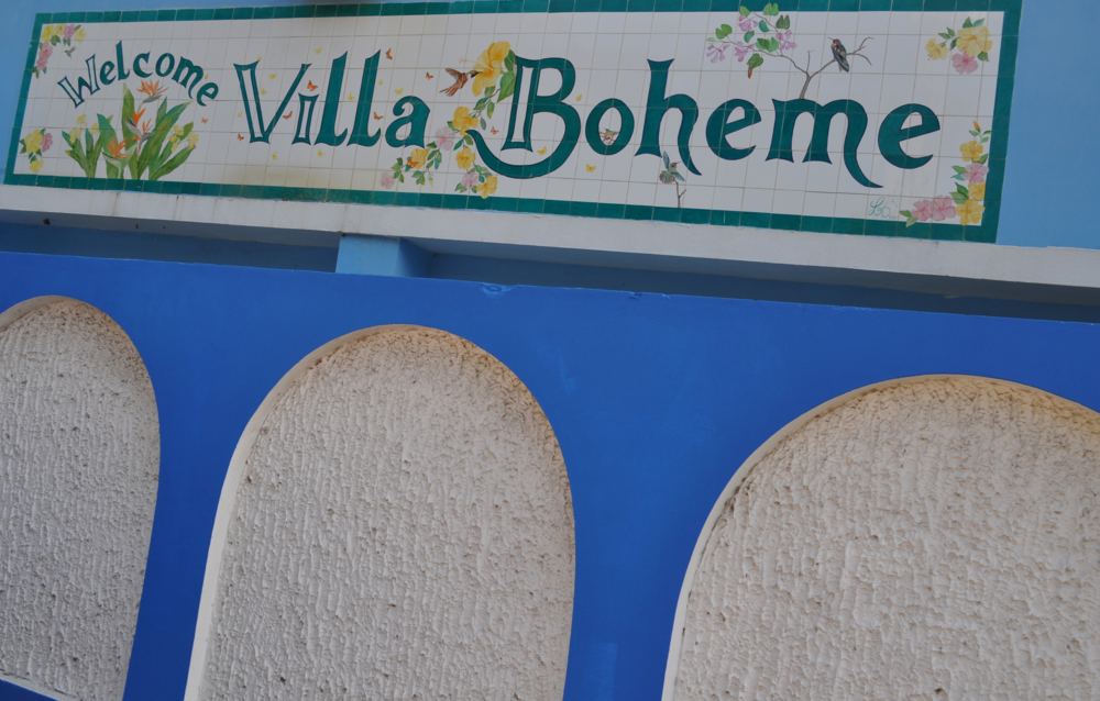 The blue arches stand out in Villa Boheme: Photo: Pamy Rojas