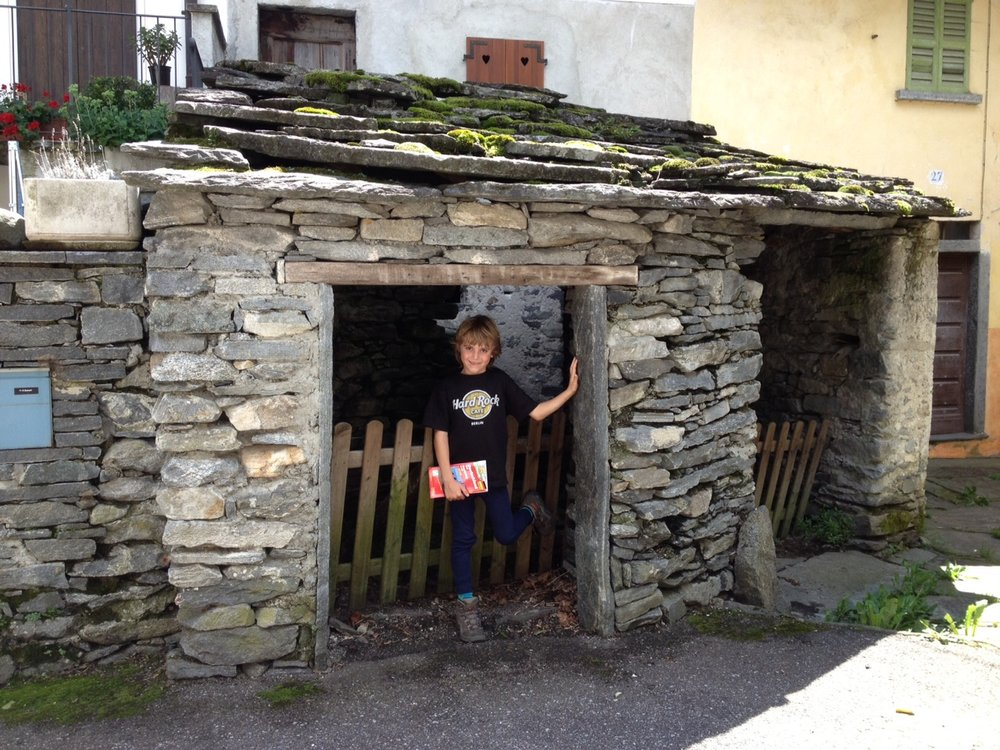 My son loved these portals in Cevio, in Ticino of Switzerland, because they had his height. Photo: Bruny Nieves