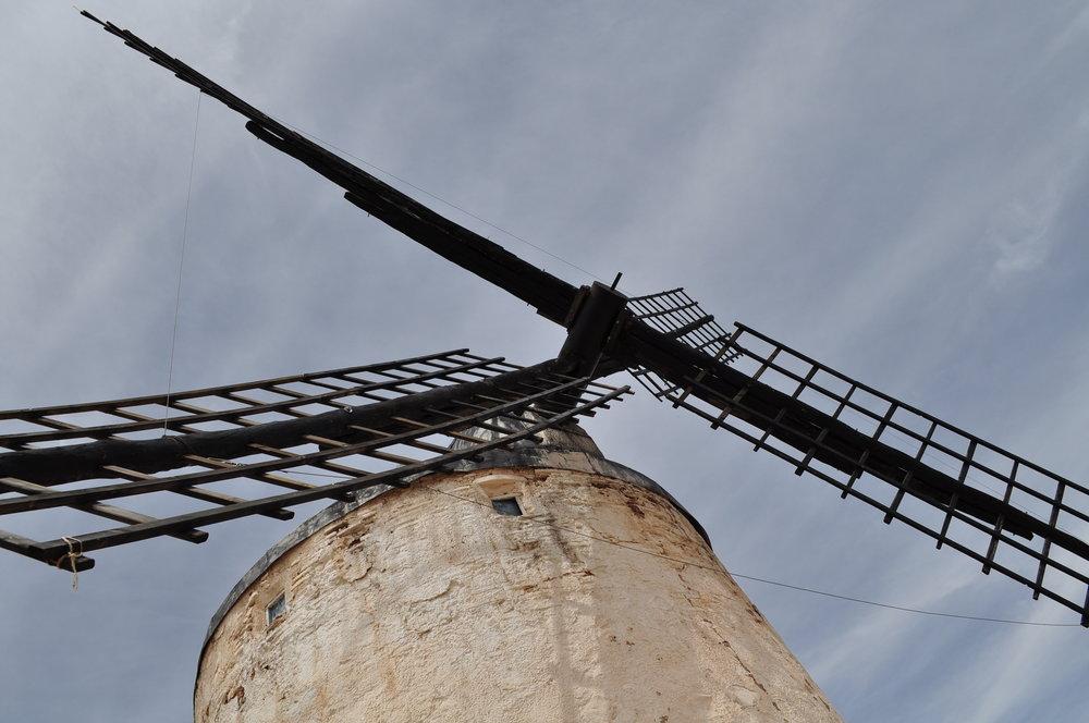 El Molino de Viento Rucio está abierto a visitantes;se puede subir hasta el tope.