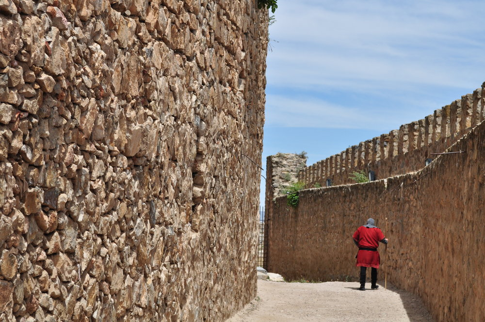 El Castillo de Consuegra lo recorrimos en un  tour  dramatizado.