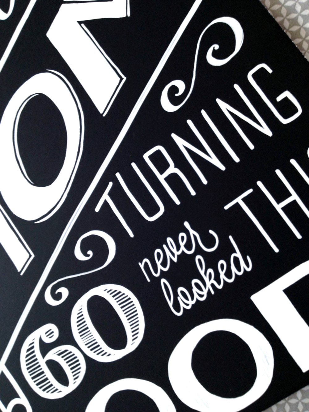 Sign Making Hand Lettering a melis b – Oversized Birthday Card