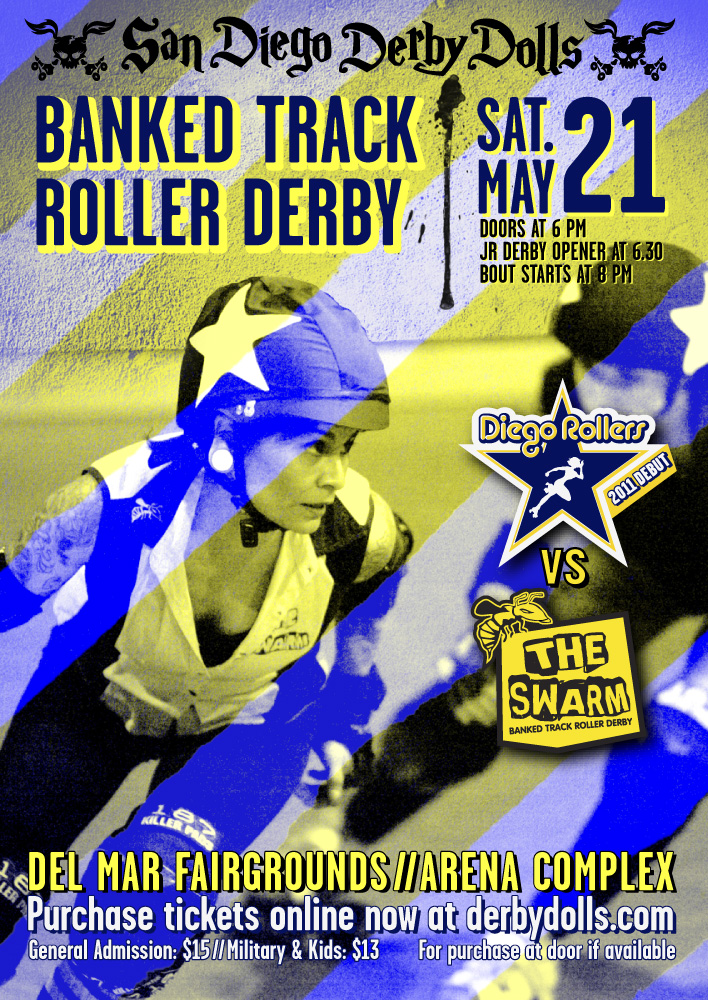 Roller Derby Flyer - May