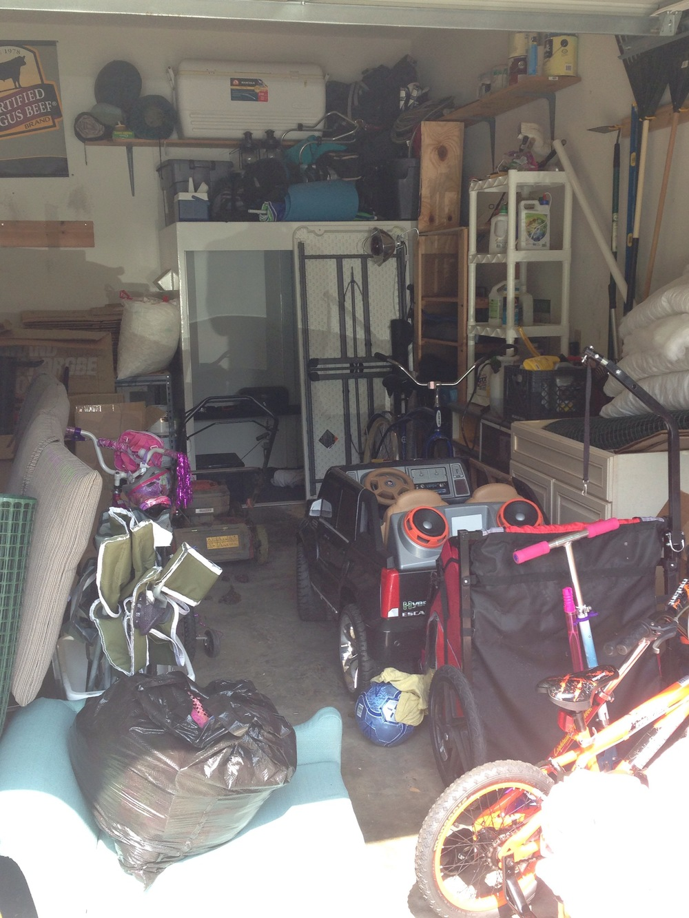 Don't act shocked! You know your garage looks just like this.