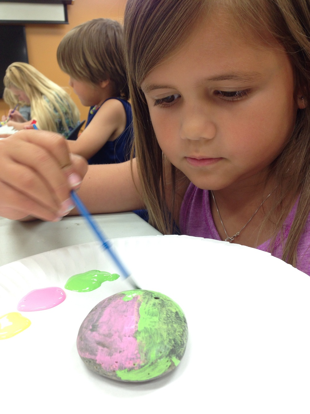 Rock painting at a local library in Kingman, Arizona.