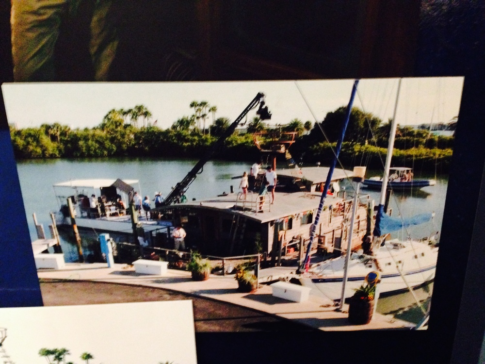A picture capturing the filming a Dolphin Tale scene.