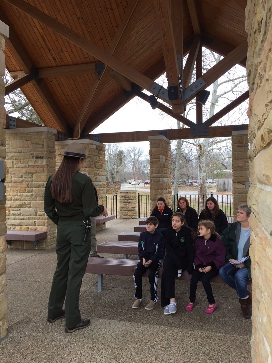 A briefing from our friendly ranger.