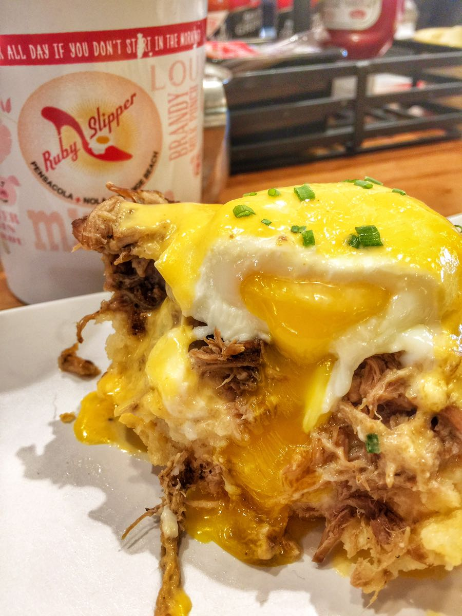 You're mouth won't forgive you if you miss this eggs benedict at The Ruby Slipper Cafe