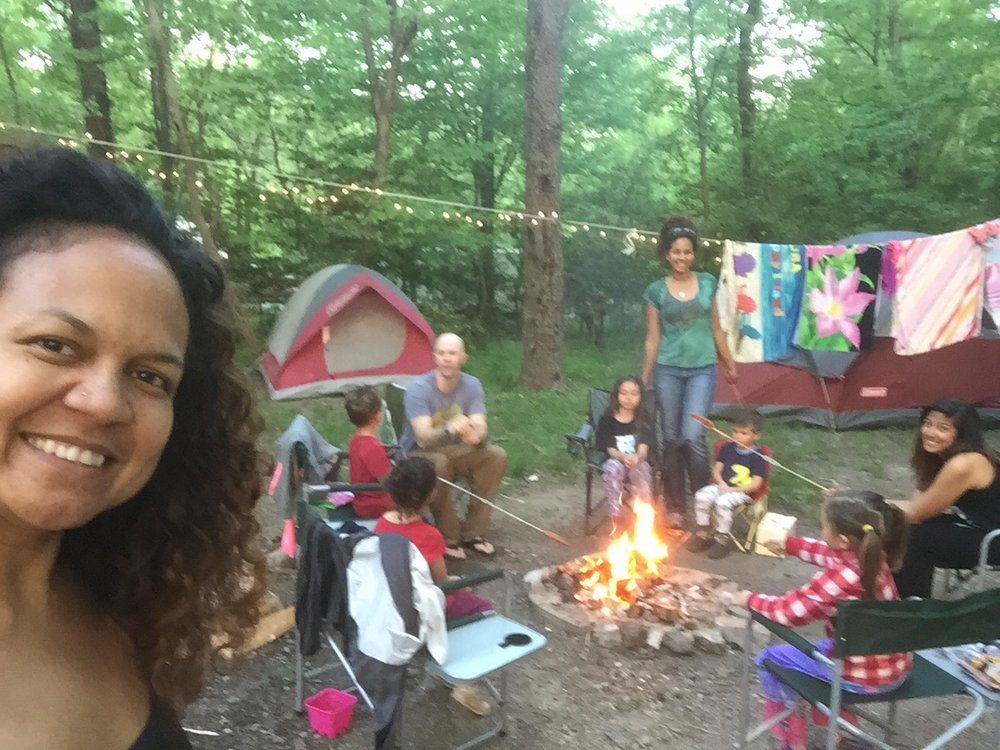 Family camping at Fall Creek Falls State Park