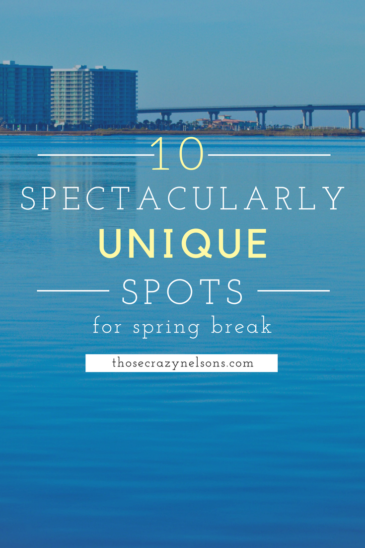 Pin this:Finally, some unique spring break ideas via ThoseCrazyNelsons.com and weekendtripsfromnashville.com