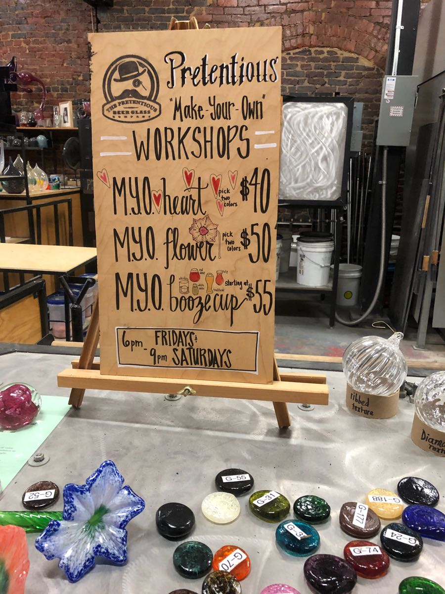 Pretentious Glass Company, Things to do in Knoxville, TN via ThoseCrazyNelsons.com