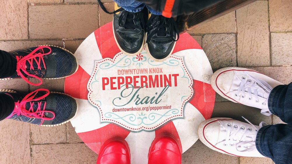 Things to do in Knoxville this Christmas, Peppermint Trail via  Samantha Nelson Photography