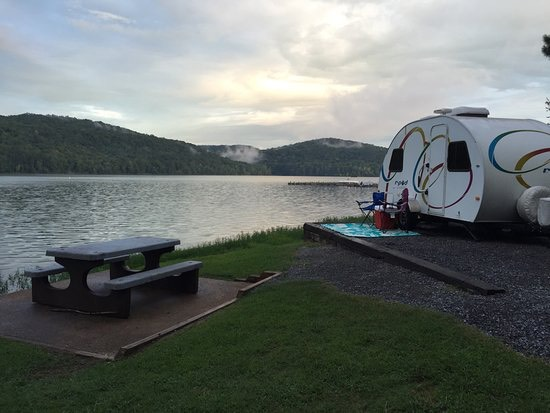 Lakeside campsite, Honeycomb Campground, photo via TripAdvisor