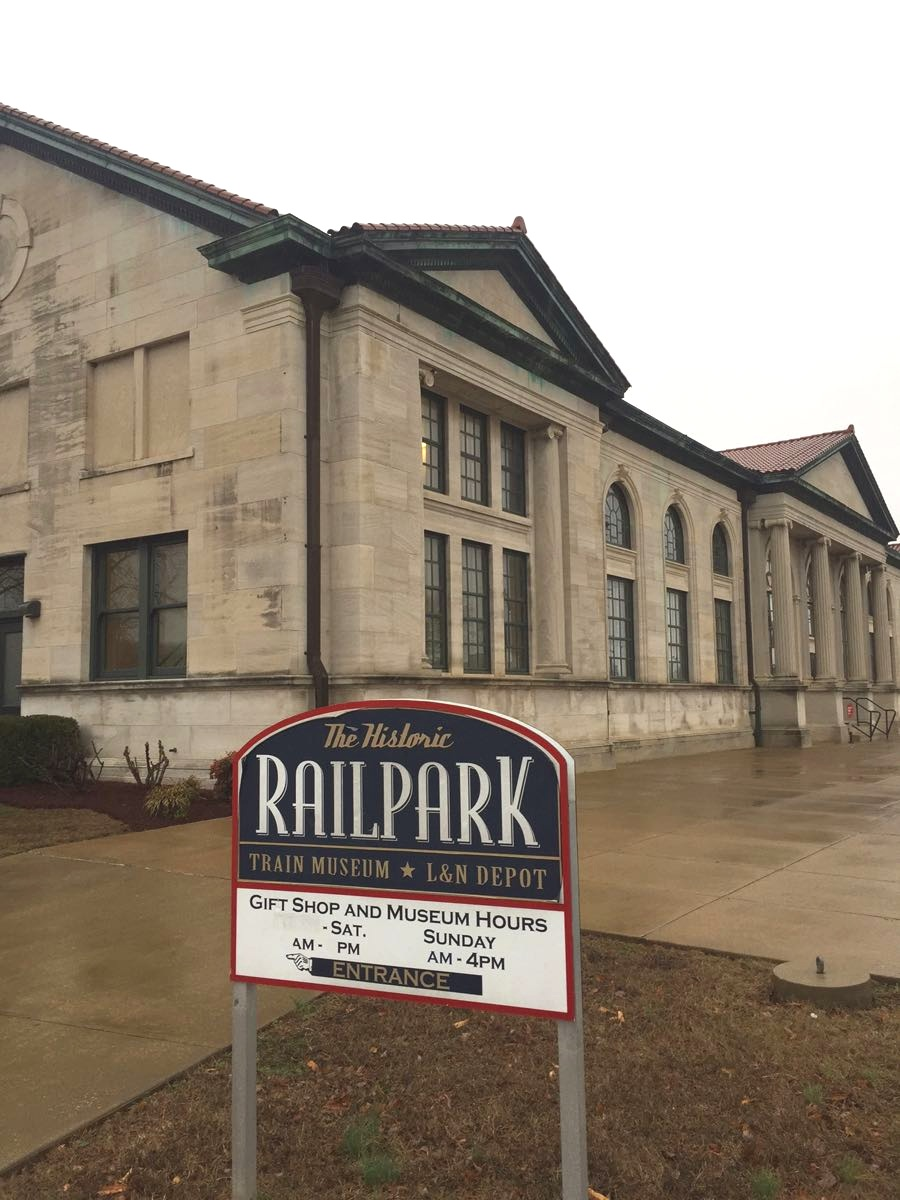 Entrance to Railpark, located in the historic L&N Depot