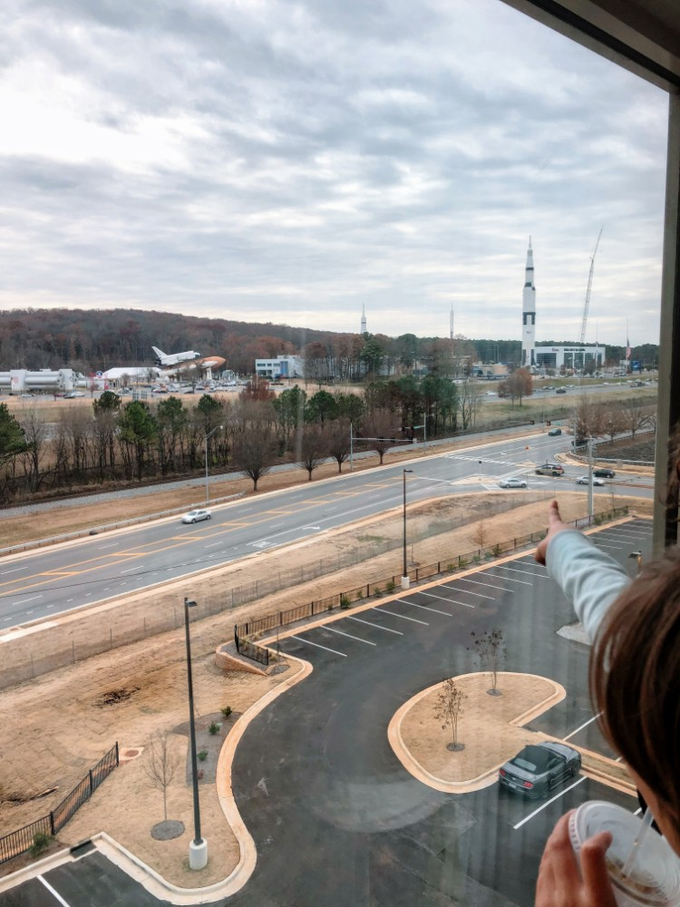 View from our room in Drury Inn and Suites, Huntsville, AL Things to do via Weekend Trips from Nashville