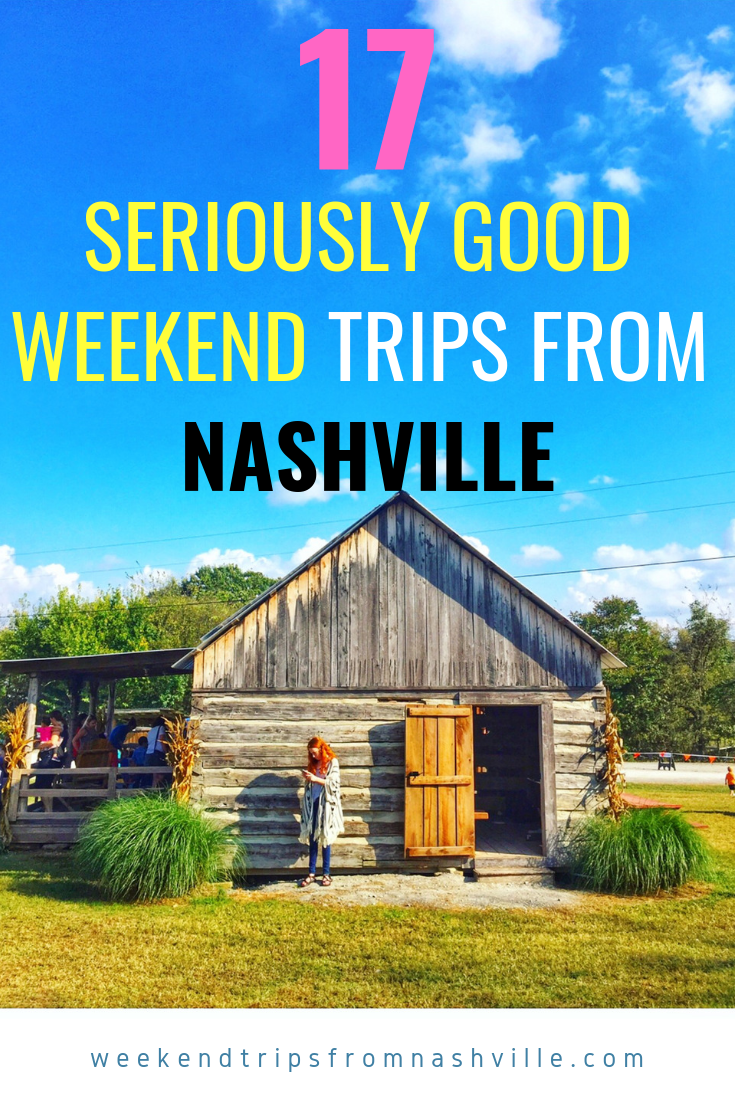 Pin this for later: The best weekend trips from Nashville via ThoseCrazyNelsons.com