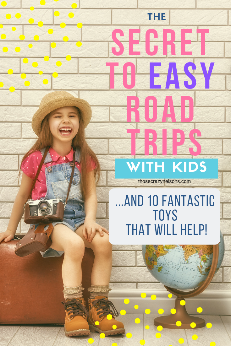 These road trip ideas for kids toys will make traveling easier for families. The 10 screen-free travel activities are great options for kids. via thosecrazynelsons.com