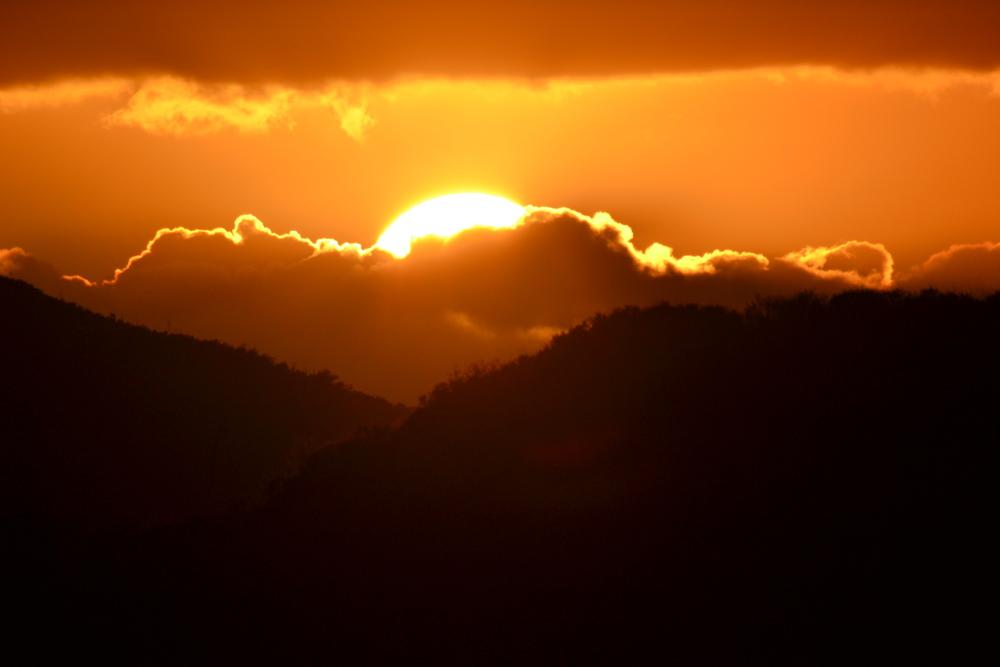 Setting Sun as viewed from Dos Vientos, Newbury Park