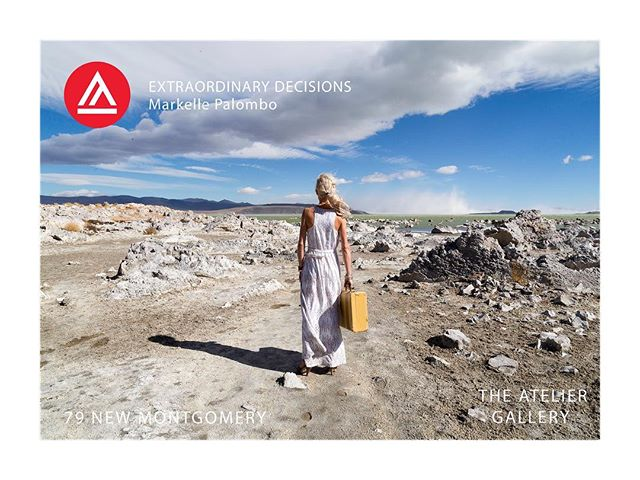 The Academy of Art  and Atelier Gallery present  Extraordinary Decisions, a Masters Thesis in fine art photography.  Show opens on January 4 @ 5:30  79 New Montgomery Gallery Hours  M-F 10AM-6PM Saturday 12-5PM  Map https://g.co/kgs/ZAH8iY . . . . . .  #ExtraordinaryDecisions #markellepalombo #photography #fineart #selfportrait #landscape #digital #canonphotography #monolake #portraitphotography #easternsierra