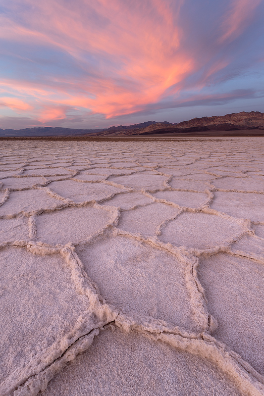 Salt flats in Death Valley National Park