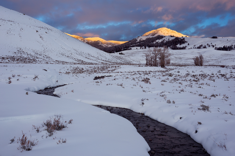 Winter Sunset in the Lamar Valley