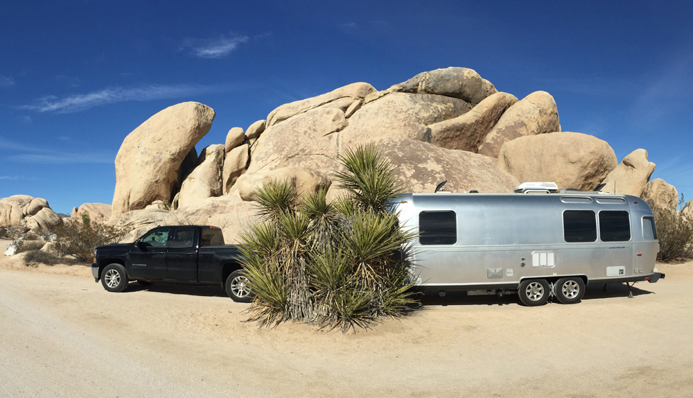 Happily parked at the beautiful Belle Campground in Joshua Tree National Park