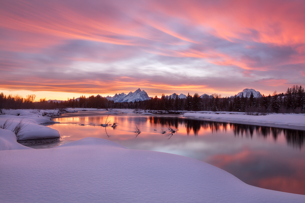 Winter in the Tetons along the Snake River (Photo Copyright Ron Coscorrosa)