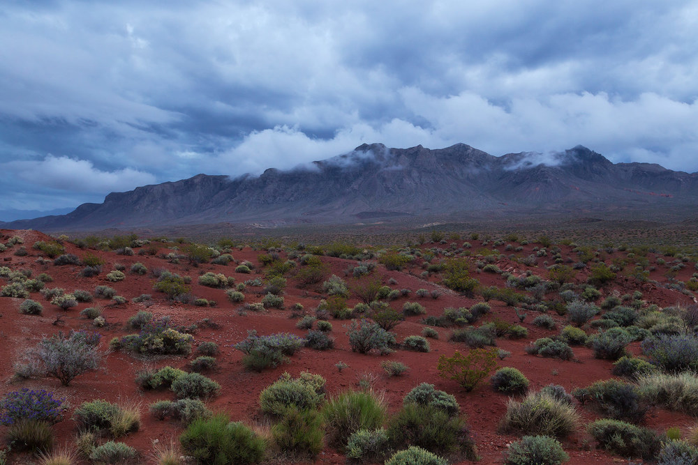 A clearing thunderstorm at Valley of Fire State Park in Nevada.